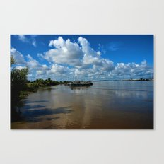 Along the Misissippi Canvas Print