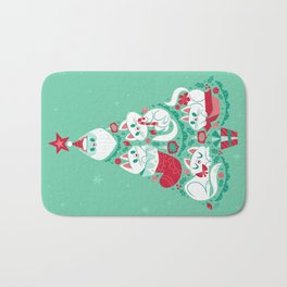 A Very Purry Christmas Bath Mat