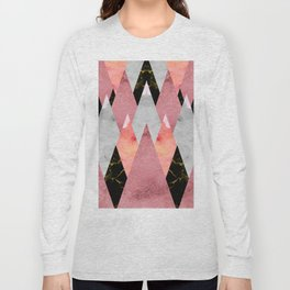 Textures Arsenal - Geometry Pink Long Sleeve T-shirt