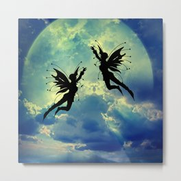 Moon Fairies Metal Print