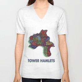 Tower Hamlets - London Borough - Colour Unisex V-Neck