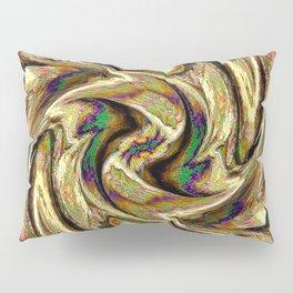 Gold Brown  Rotation Motaion Background Abstact Pillow Sham