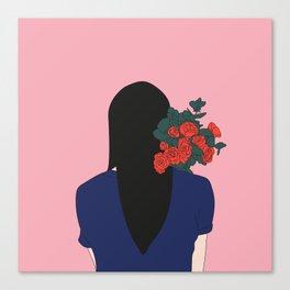 Bouquet de roses Canvas Print
