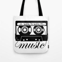 Walk The Walk Music Tape (1) Tote Bag