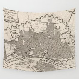 Vintage Map of Lima Peru (1764) Wall Tapestry