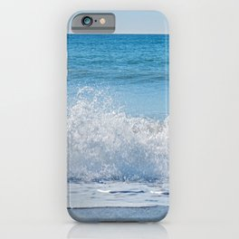 High waves and water splashes in Andalusia, Spain, mediterranean coast iPhone Case