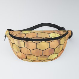 Golden Honeycomb Pattern Fanny Pack