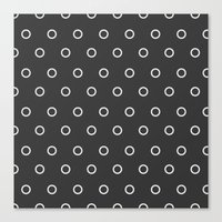 circles Canvas Prints featuring Circles by Nobu Design