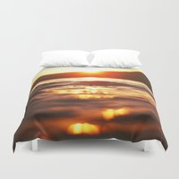 lake Duvet Covers featuring Lake by Meg Hartley Photography