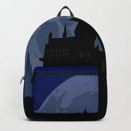 Castle - Blue, Large Moon Backpack
