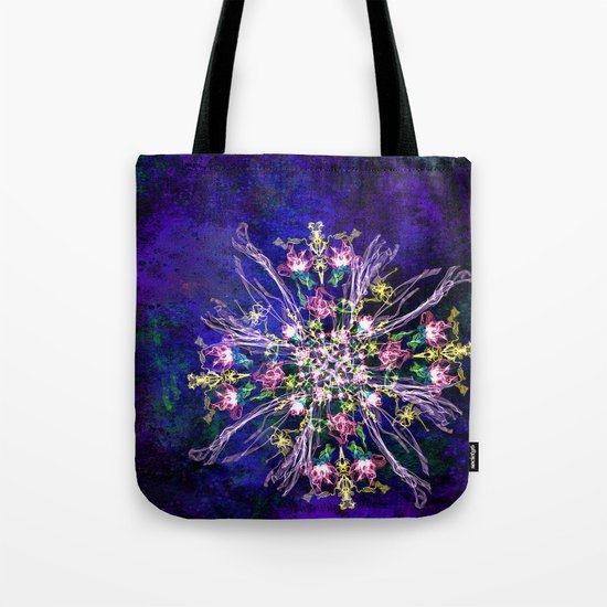Abstract delicate silk flowers Tote Bag