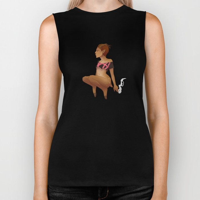 Punk Faun - No Text Biker Tank