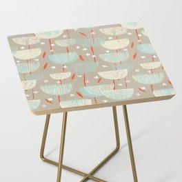 Botanical Block Print M+M Latte by Friztin Side Table