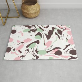 Stirred colors on white Rug