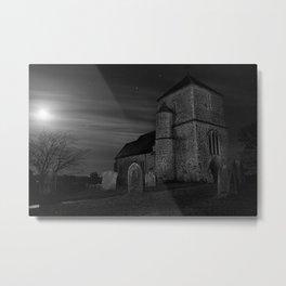 St Mary Kenardington At Night Metal Print
