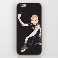 cassia beck iPhone & iPod Skins featuring Beck Hansen by Alfredo Torres