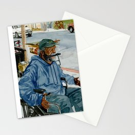 Homeless Series 1 ~ Sunset Blvd., Los Angeles, CA. Stationery Cards