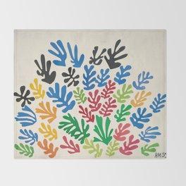 Leaf Cutouts by Henri Matisse (1953) Throw Blanket