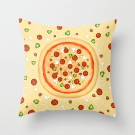Just Pizza Throw Pillow