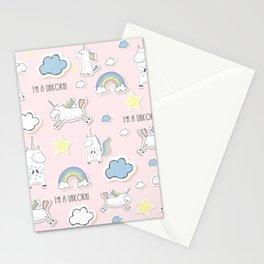 I'm a Unicorn - light pink Stationery Cards