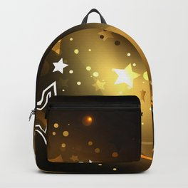 Abstract Background with Golden Stars Backpack
