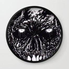 Black Zombie Rotten Wall Clock