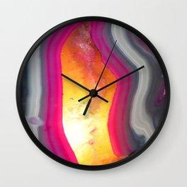 Pink Geode Glow Wall Clock