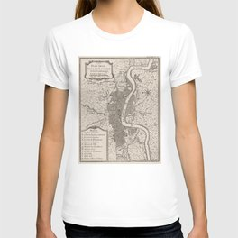 Vintage Map of London England (1764) T-shirt