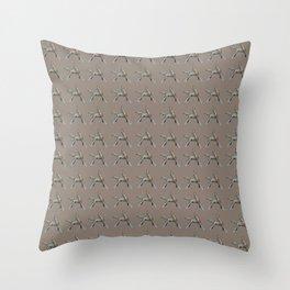 Exuberant Colts (color) Throw Pillow