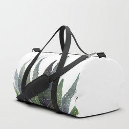 Zebra succulent Duffle Bag