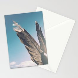 Brown Feathers Stationery Cards