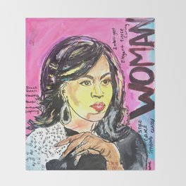 I am Woman: Michelle Obama Throw Blanket