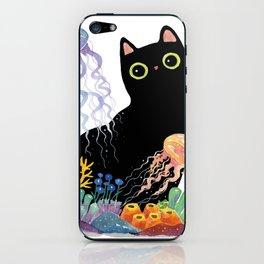 the Aquarium Cat _ Jellyfish iPhone Skin