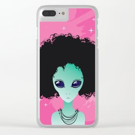 alien poster Clear iPhone Case