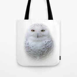 Dreamy Encounter with a Serene Snowy Owl Tote Bag