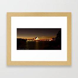 Sydney Harbour Evening Framed Art Print