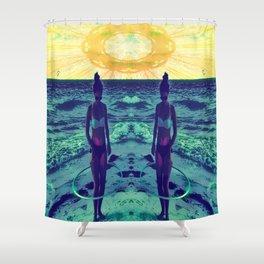 Mandala Beach Shower Curtain