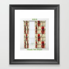 SOLD: Double Curtains Framed Art Print
