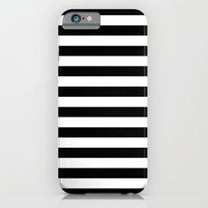Horizontal Stripes (Black/White) iPhone 6 Slim Case