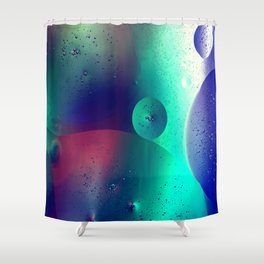 Electric Oil Droplets Number One Shower Curtain