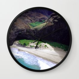 For Angels, Only: Divine Tropical White Sand Beach Wall Clock