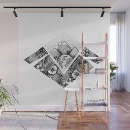 Geometric Nature Wall Mural