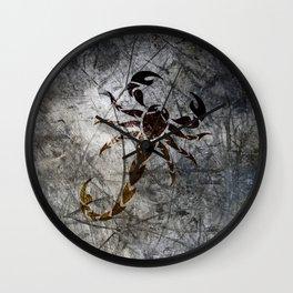 Grunge Scorpion Wall Clock