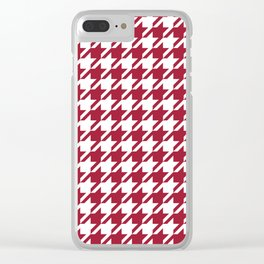 Bama crimson tide college state pattern print university of alabama varsity alumni gifts houndstooth Clear iPhone Case