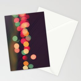 Vintage Colorful Christmas Bokeh Stationery Cards