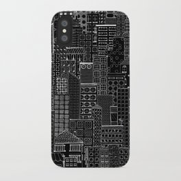 City Doodle (night) iPhone Case
