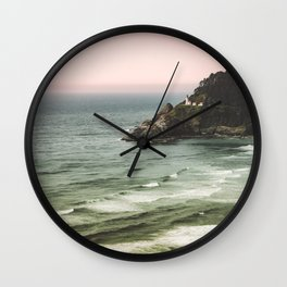 Pacific Northwest Grandeur - Heceda Lighthouse Wall Clock