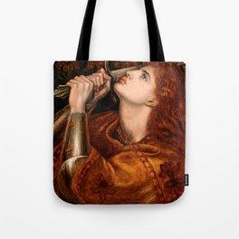 """Dante Gabriel Rossetti """"Joan of Arc"""" Tote Bag"""
