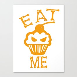 Eat me yellow version Canvas Print