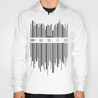 code Hoodies featuring Music Code by Sitchko Igor
